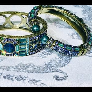 Heidi Daus Lavish Layers Bangle & Cuff Duo, Blue